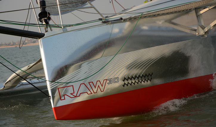 Raw Trimaran 30ft Chrome Wrap Wild Group International